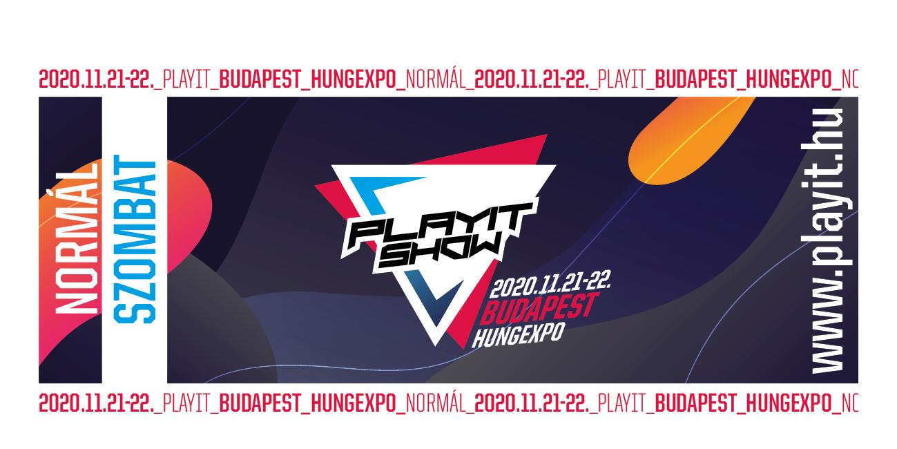 PlayIT BUDAPEST 2020 - SOMBATI NORMÁL JEGY